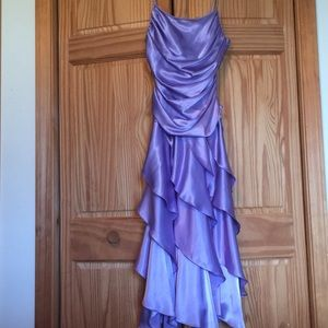 VINTAGE satin purple dress NWT
